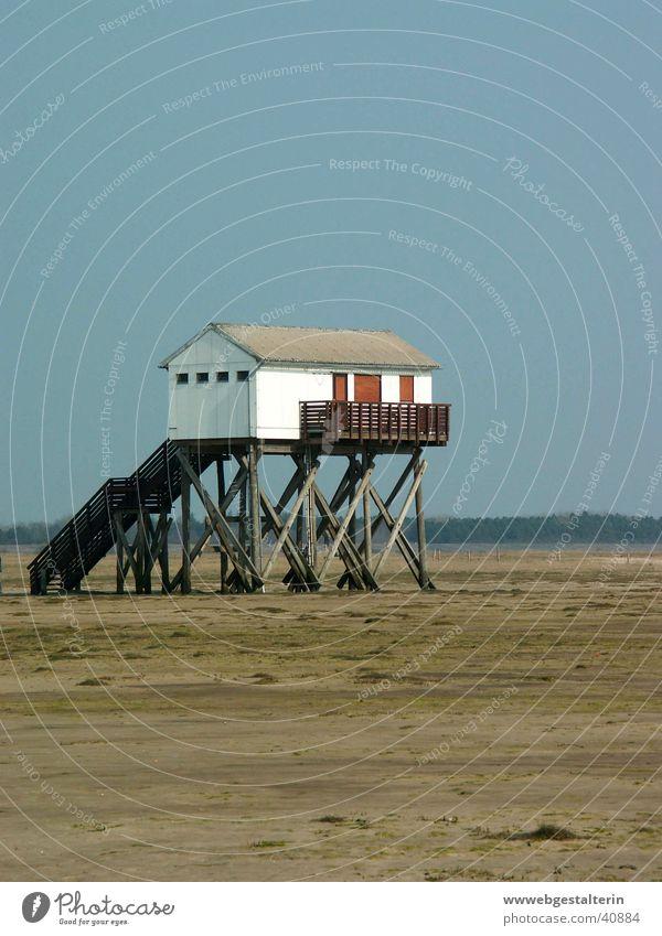 StrandWC Meer Wattenmeer Wattwürmer Europa Nordsee Wasser Wind Wetter