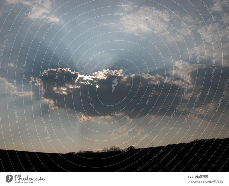 Wolkenspot Sonne Berge u. Gebirge
