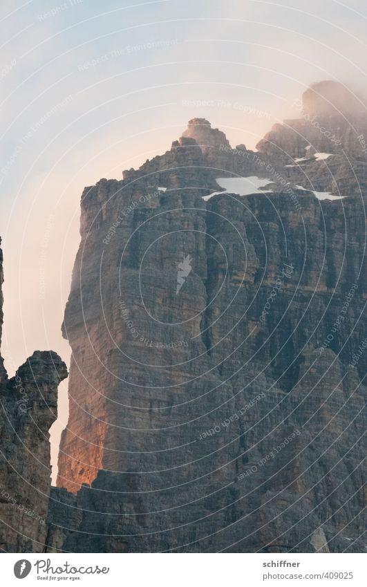 Wenn ich mal groß bin Umwelt Natur Landschaft Himmel Wolken Klima Klimawandel Wetter Schönes Wetter Felsen Alpen Berge u. Gebirge Gipfel Schneebedeckte Gipfel
