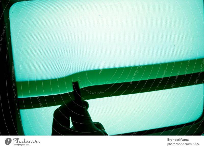 Monitorstörung Bildschirm Magnet Hand Licht Streifen Elektrisches Gerät Technik & Technologie gestört Detailaufnahme Reaktionen u. Effekte Verzerrung