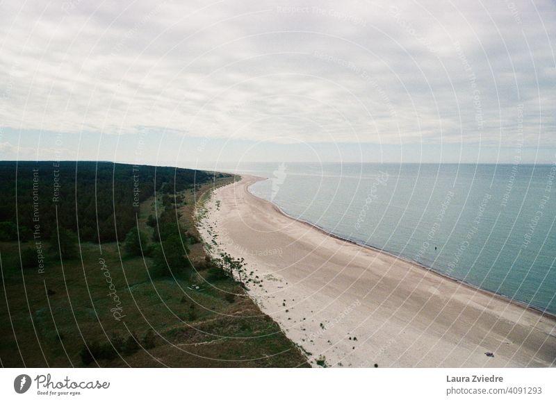 Ostseeküste Küste Küstenlinie Küstenstreifen MEER Strand malerisch reisen Tourismus Meereslandschaft Landschaft Lettland Natur Ferien & Urlaub & Reisen Sand