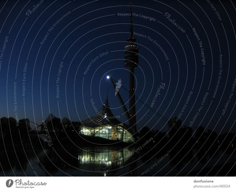 Olympianacht Architektur Turm München