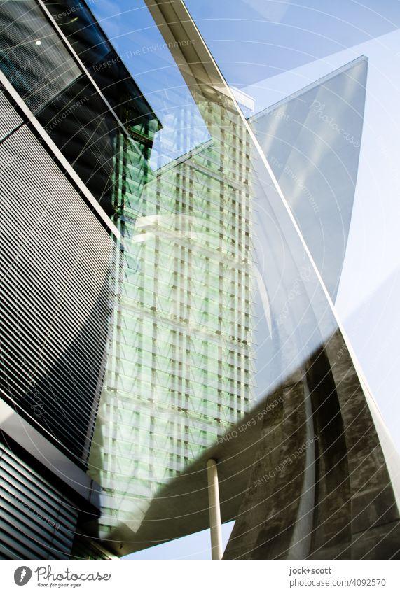 Neulich am großen modernen Haus Architektur Strukturen & Formen Stil Marie-Elisabeth-Lüders-Haus Moderne Architektur Fassade Parlamentsgebäude