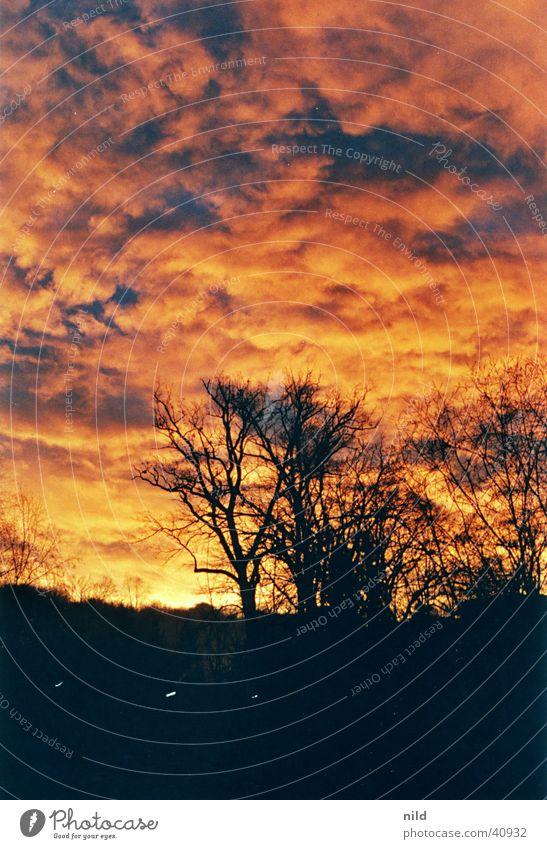 SonnenaufgangVomBalkon Himmel Stimmung Brand mystisch