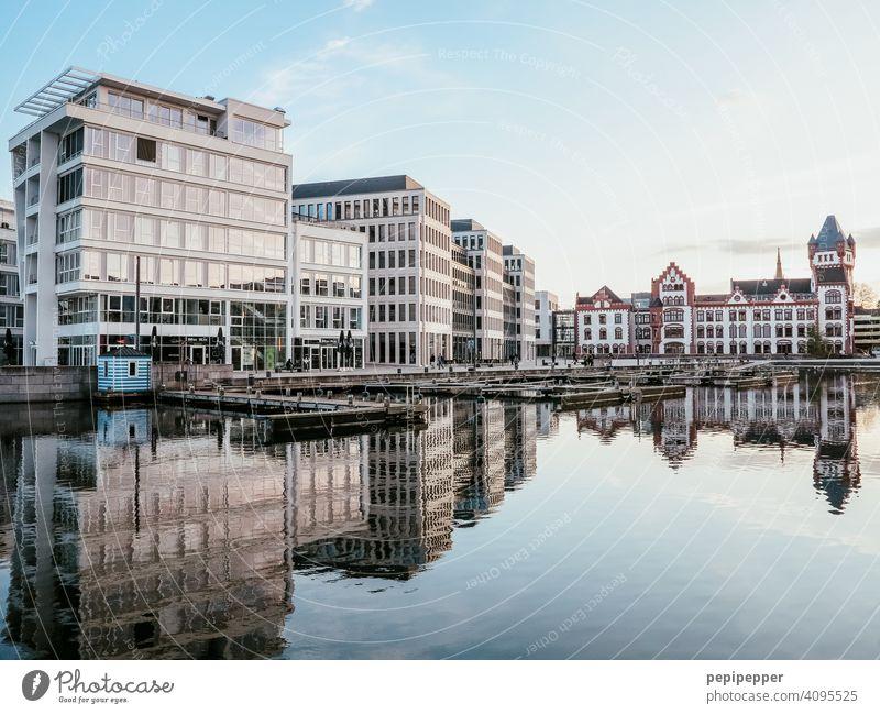 Bürogebäude und Hörder Burg, Dortmund Phoenixsee Büroarbeit See Seeufer Sehenswürdigkeit Erholung arbeiten Arbeit & Erwerbstätigkeit arbeiten büro Arbeitsplatz