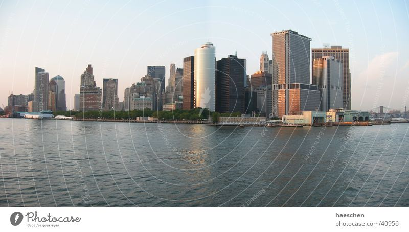 Skyline Manhattan groß Hochhaus New York City Skyline Manhattan Panorama (Bildformat) Nordamerika