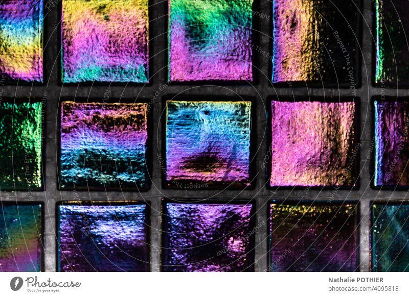 Schillernde Fliesen mit schönen Farben irisierend Fliesen u. Kacheln Licht mehrfarbig Farbverlauf Farbfoto Reflexion & Spiegelung Farbenspiel Hintergrundbild