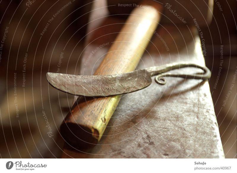 Des Schmied´s Messer Handwerk Messer Hammer Mittelalter Schmied Amboss