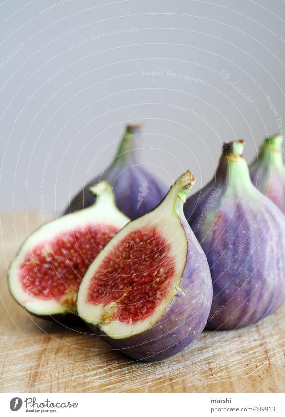 saftige Feigen Essen Lebensmittel Frucht Ernährung violett lecker Bioprodukte saftig fruchtig geschmackvoll Feige