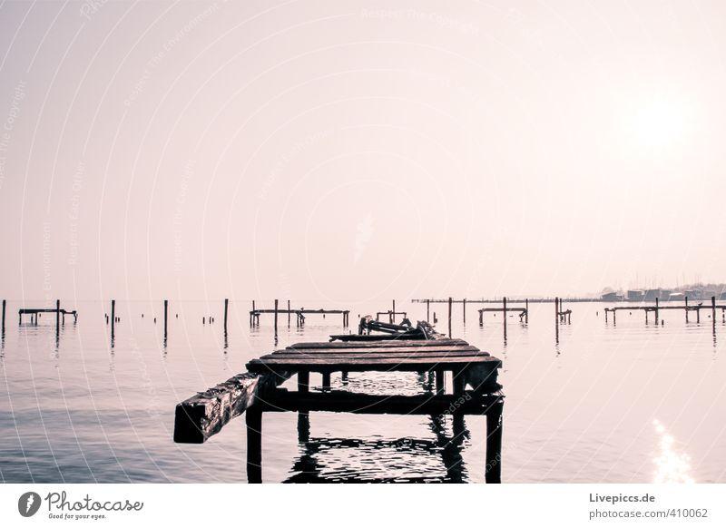 Rügen´s neuer Yachthafen Umwelt Natur Landschaft Wasser Himmel Wolkenloser Himmel Sonne Sonnenaufgang Sonnenuntergang Sonnenlicht Herbst Schönes Wetter Seeufer