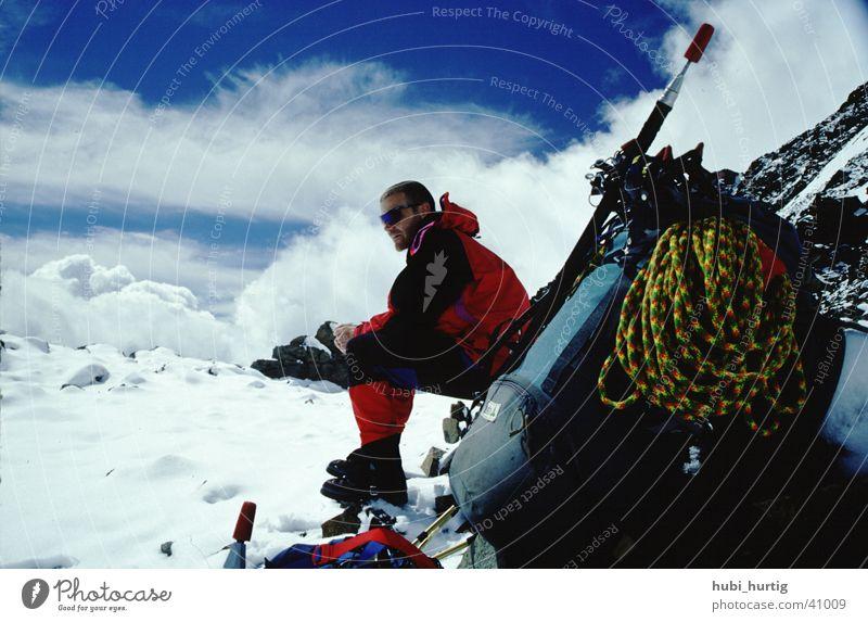 Rolfi über den Wolken Bergsteigen wandern Rucksack Berge u. Gebirge Sonne Steigeisen Seil