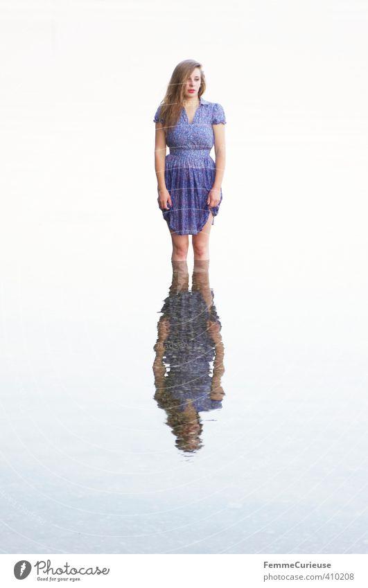 Wasserelfe (XVIII) schön Wellness Leben Wohlgefühl Zufriedenheit Erholung ruhig Meditation Kur feminin Mädchen Junge Frau Jugendliche Erwachsene 1 Mensch