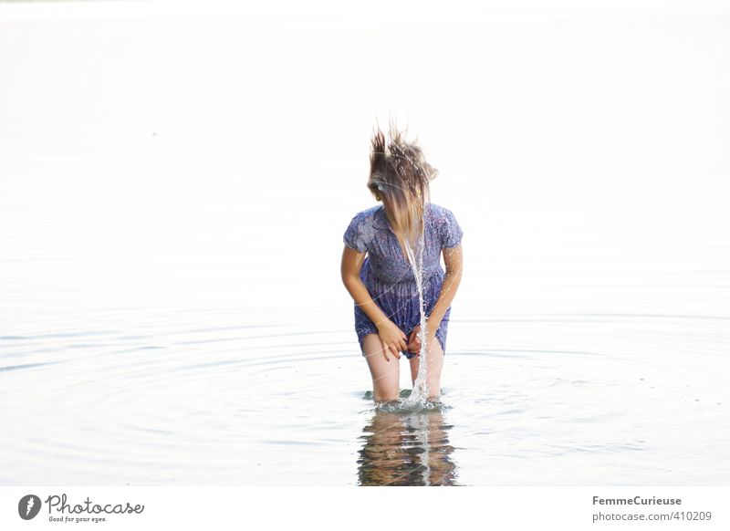 Wasserelfe (VII) Mensch Frau Natur Jugendliche schön Sommer Meer Erholung Junge Frau Mädchen Erwachsene 18-30 Jahre Leben feminin Bewegung