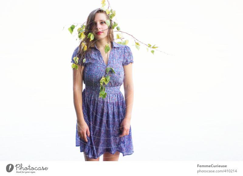 Wasserelfe (XI) Mensch Frau Natur Jugendliche blau schön Erholung Mädchen ruhig Junge Frau Blatt Erwachsene 18-30 Jahre Leben feminin blond