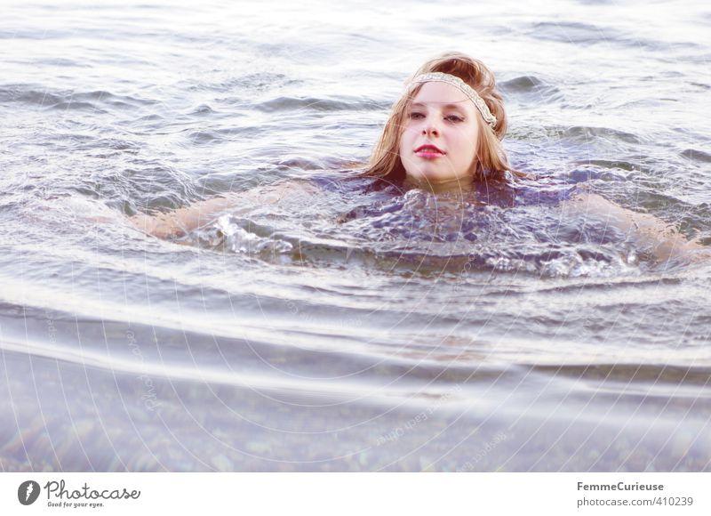 Wasserelfe (XXIII) schön Gesundheit Wellness Zufriedenheit Erholung Kur Spa feminin Mädchen Junge Frau Jugendliche Erwachsene 1 Mensch 18-30 Jahre Natur