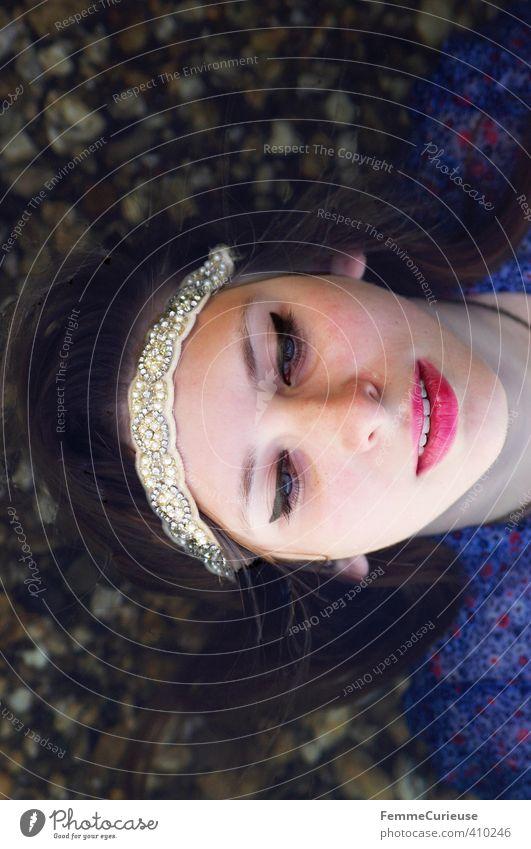 Wasserelfe (XXIV) schön Leben harmonisch Wohlgefühl Sinnesorgane Erholung ruhig Meditation Kur Spa feminin Mädchen Junge Frau Jugendliche Erwachsene 1 Mensch