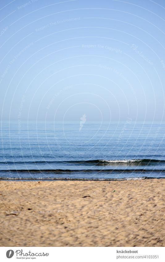 Mer Méditerranée Mittelmeer Strand Meer Wellen Horizont blau Sand Einsamkeit Ferne Küste Wasser Menschenleer Schönes Wetter Südfrankreich Außenaufnahme