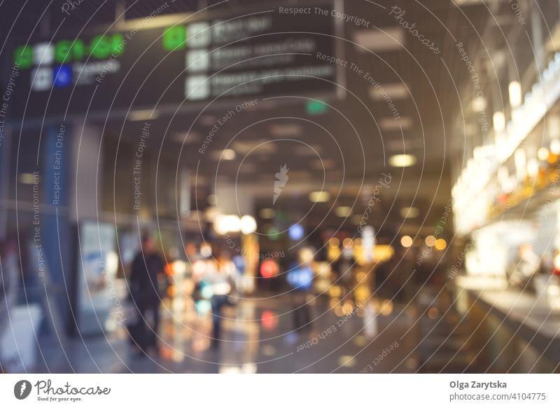 Unscharfe Menschen im Flughafen. Unschärfe Hintergrund Silhouette reisen Innenbereich Transport Gebäude Reise Terminal Menge Passagier Abheben urban Eingang