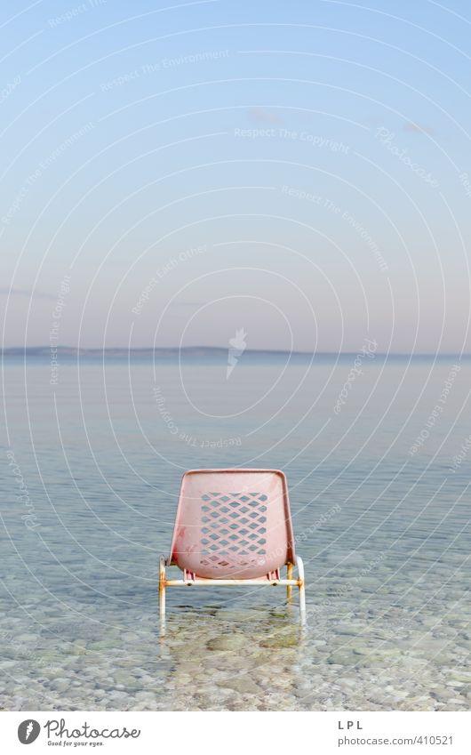 """Großes Kino """"Dämmerung"""" - Platz frei Himmel Natur blau Wasser Einsamkeit Landschaft Küste Glück Luft rosa Erde Lifestyle Insel Urelemente Abenteuer einzigartig"""