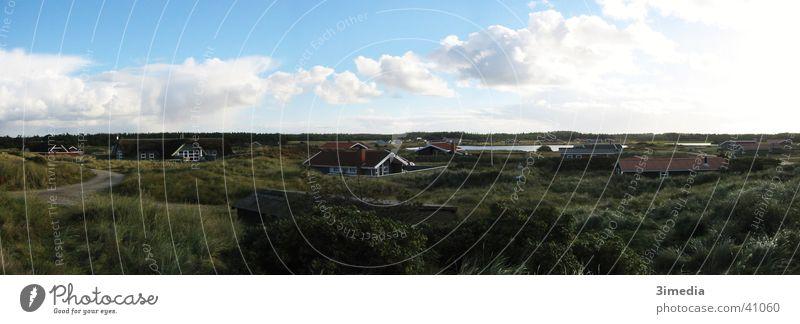 Dänemark Panorama (Aussicht) Ferne Wolken Landschaft Niveau groß Panorama (Bildformat)