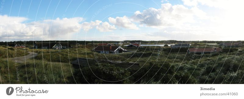 Dänemark Wolken Ferne Landschaft groß Niveau Panorama (Bildformat) Dänemark