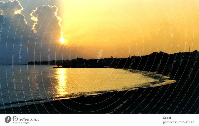 beach Strand Wolken Griechenland Kreta Europa Sonne Wasser