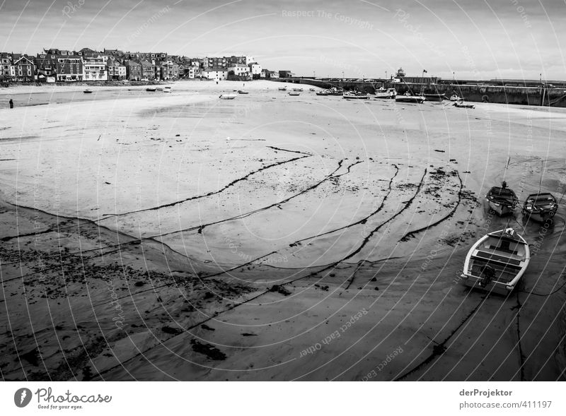 Cornwall St. Ives Hafen Himmel Natur alt Wasser Meer Landschaft Strand Haus Umwelt Frühling Küste Armut Schönes Wetter Urelemente Bucht