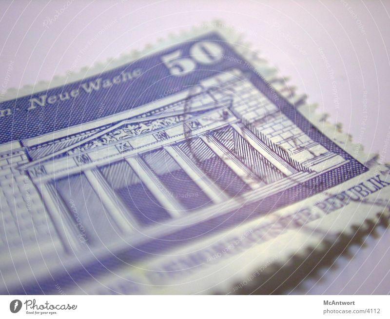 abgestempelt Briefmarke Post Dinge