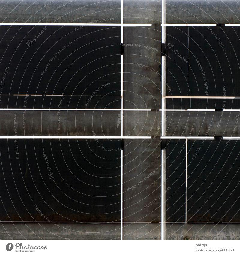 Schwarz Stil Design Bauwerk Architektur Fassade Linie außergewöhnlich einfach einzigartig schwarz Traurigkeit Unlust Schmerz Frustration Verbitterung