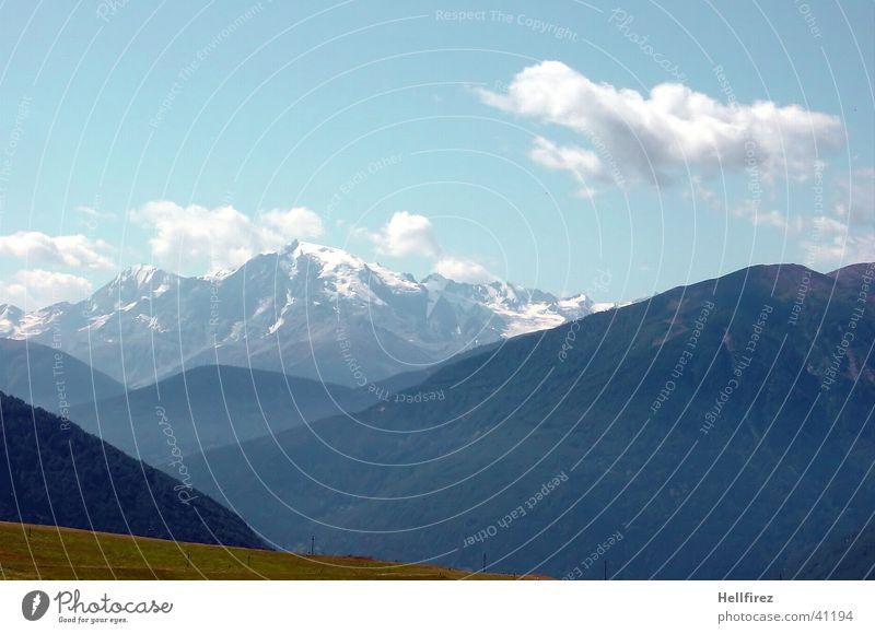 Gute Aussichten Wolken Schnee Berge u. Gebirge Landschaft Alpen Blauer Himmel