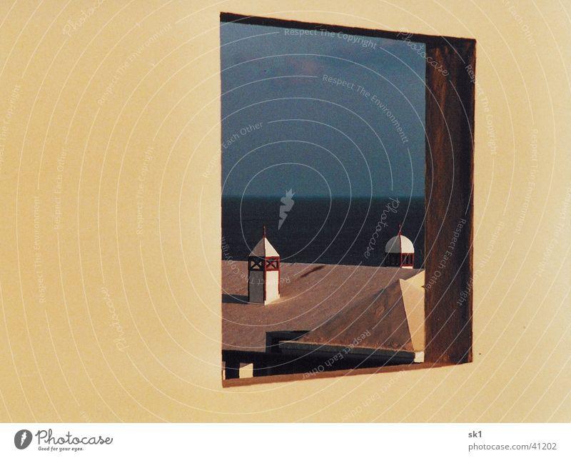 Fenster aus 1001 Nacht Turm Meer Dach Lanzarote Ferien & Urlaub & Reisen Märchen Architektur Himmel