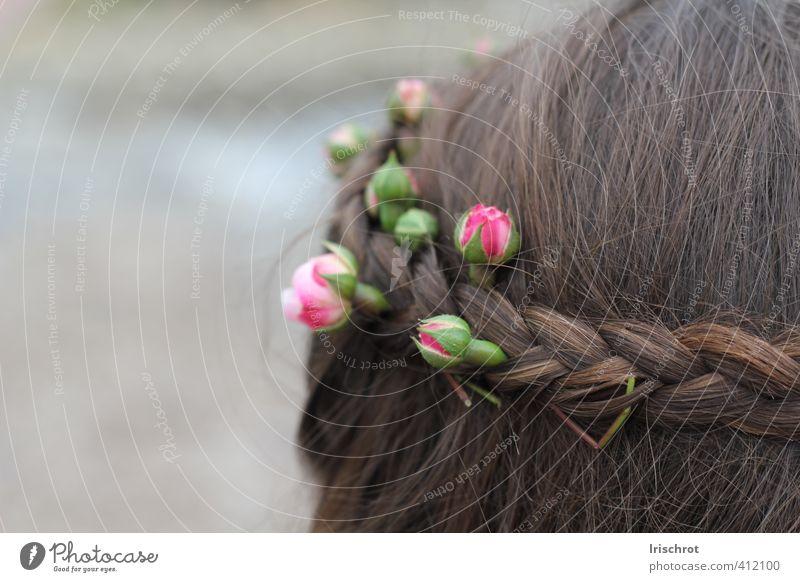 Frühlingskind Mensch Kind Sommer Blume Frühling Haare & Frisuren Blütenknospen Blumenkranz