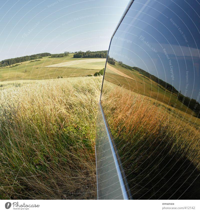 Feldscheibe Natur Landschaft Pflanze Himmel Sommer Klima Wetter Wärme Dürre Gras Sträucher Nutzpflanze Wiese Hügel Wachstum blau grün Landwirtschaft Scheibe PKW