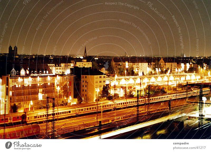 nachtfahrt Nacht Eisenbahn Europa