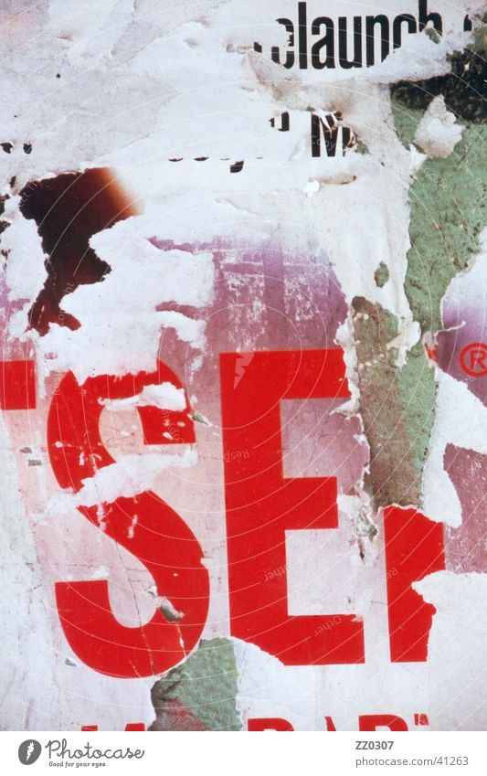 sel Wand kaputt Dinge Typographie Plakat