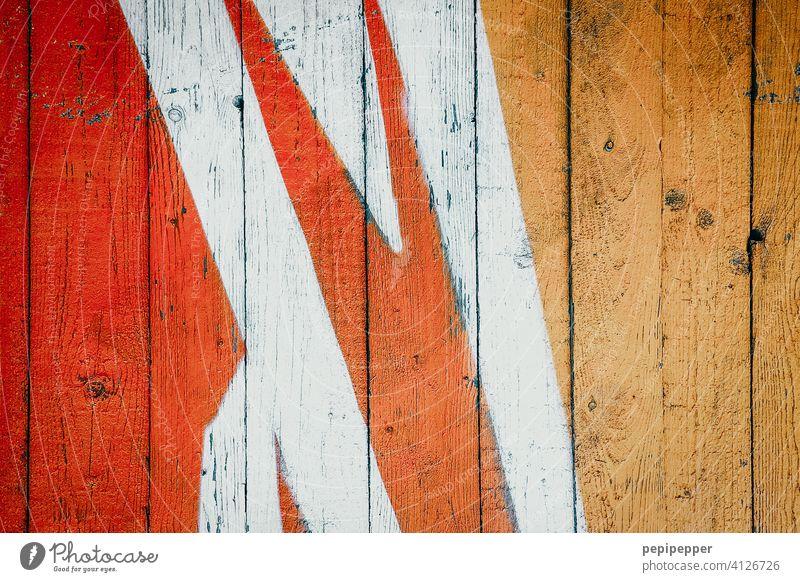 bemalte, alte Holzwand, Graffiti Graffiti-Wand graffitti Graffitis Mauer Wandmalereien Kunst Straßenkunst Fassade Schriftzeichen Jugendkultur Schmiererei