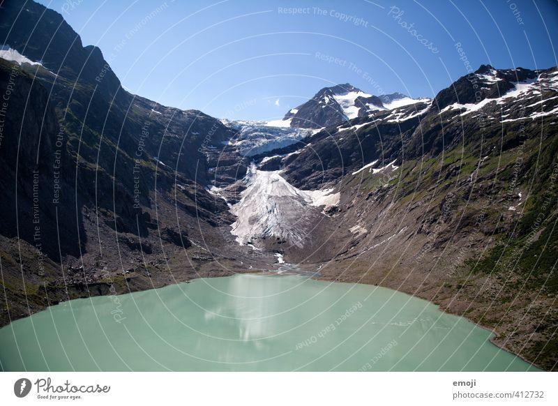 Triftgletscher Himmel Natur Sommer Landschaft Umwelt kalt Berge u. Gebirge Schnee See natürlich Eis Erde Schönes Wetter Urelemente Frost Gipfel