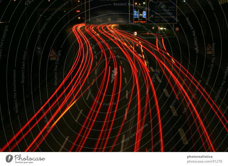 nachtverkehr Straße Berlin PKW Verkehr Brücke Autobahn