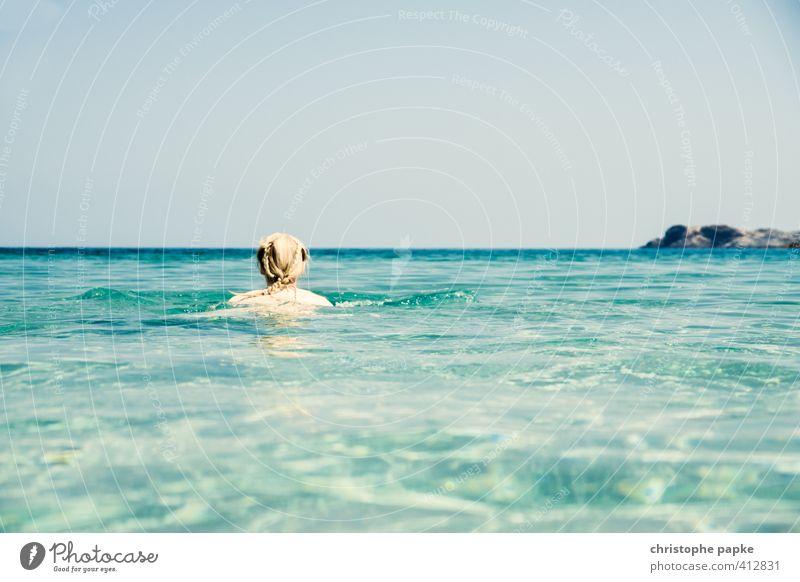 der beste Infinity-Pool Wohlgefühl Erholung Schwimmen & Baden Ferien & Urlaub & Reisen Freiheit Sommer Sommerurlaub Sonne Strand Meer Wellen feminin Junge Frau