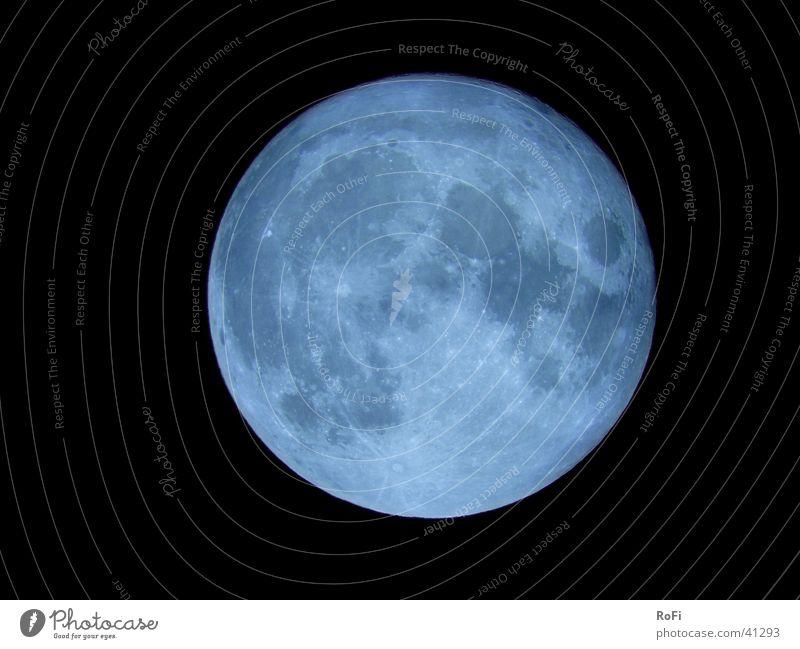 Blue Moon Himmel Mond Planet Teleskop Himmelskörper & Weltall Vollmond