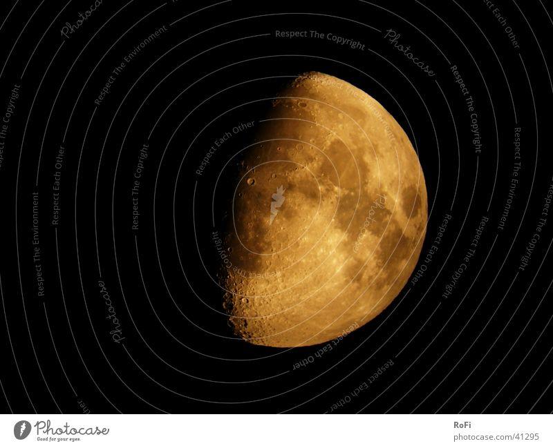 Zunahme Himmel schwarz dunkel Mond Planet Teleskop Himmelskörper & Weltall
