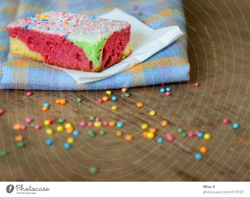 Papageienkuchen Farbe Feste & Feiern Lebensmittel Geburtstag Foodfotografie Ernährung Tisch süß Süßwaren lecker Frühstück Kuchen Picknick Backwaren Zucker Torte