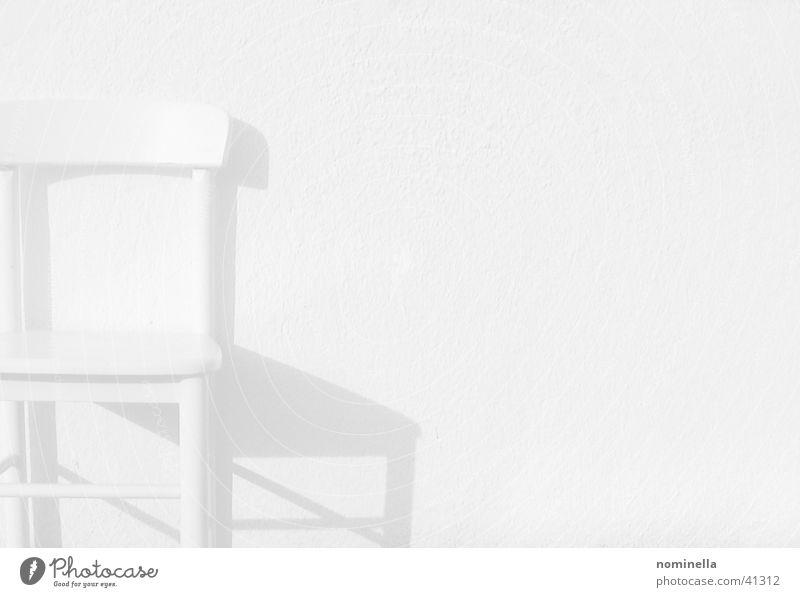 Running weiß Wand ruhig obskur Stuhl