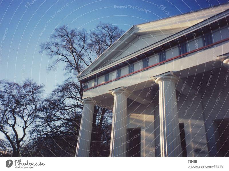 Rom in MST alt Himmel weiß Baum blau Haus Herbst Gebäude Architektur antik Abendsonne