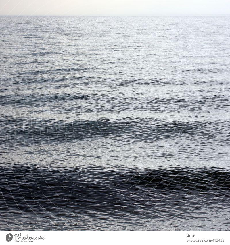Hiddensee | Lebenslinien Himmel Natur Wasser Einsamkeit ruhig Küste Wege & Pfade Horizont Wellen Zufriedenheit authentisch Schönes Wetter Geschwindigkeit nass