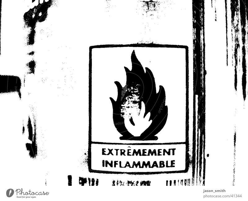 on fire baby Brand schwarz weiß obskur aerosol-dose