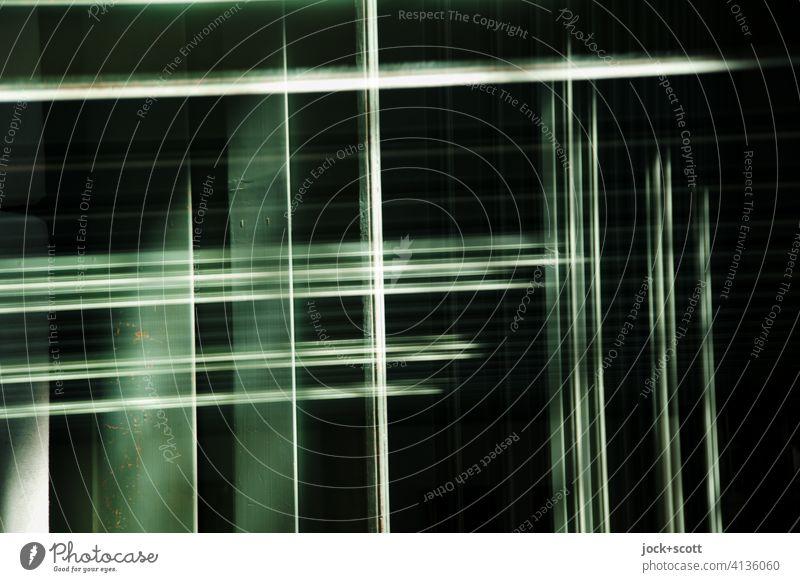 Licht mit Schatten doppelt gemoppelt Linie Strukturen & Formen Doppelbelichtung Reaktionen u. Effekte Silhouette komplex Illusion Experiment abstrakt