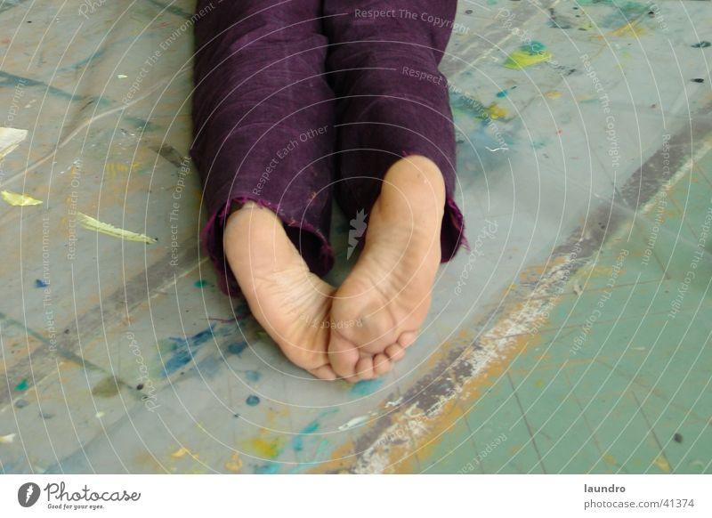 creative feet Mann Fuß Bild streichen