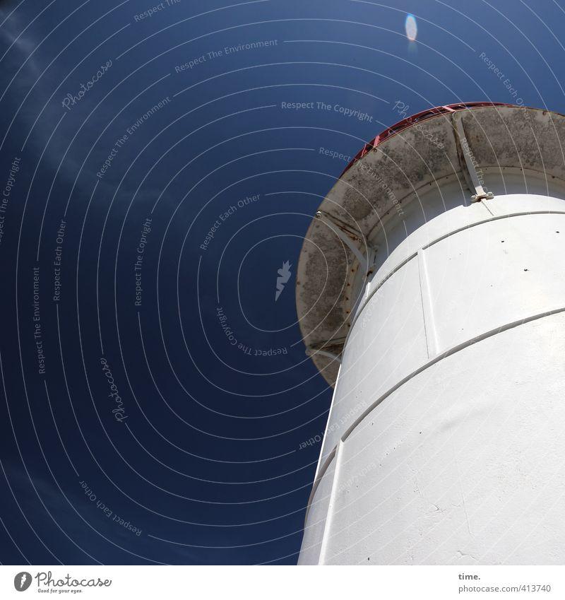 Hiddensee | Seemannsglück Himmel Wolken Frühling Schönes Wetter Küste Strand Ostsee Leuchtturm Bauwerk Gebäude Mauer Wand Fassade Sehenswürdigkeit Wahrzeichen