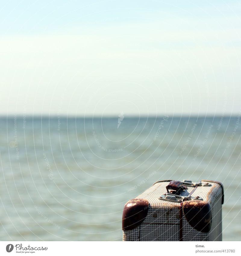 Hiddensee | Fernweh Himmel Ferien & Urlaub & Reisen alt Wasser Einsamkeit Strand Leben Gefühle Küste Horizont Wellen Idylle Zufriedenheit Tourismus